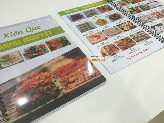 In menu cho quán Xiên Que tại TPHCM thực hiện bởi In Thực Đơn | Loại hình in: in me...