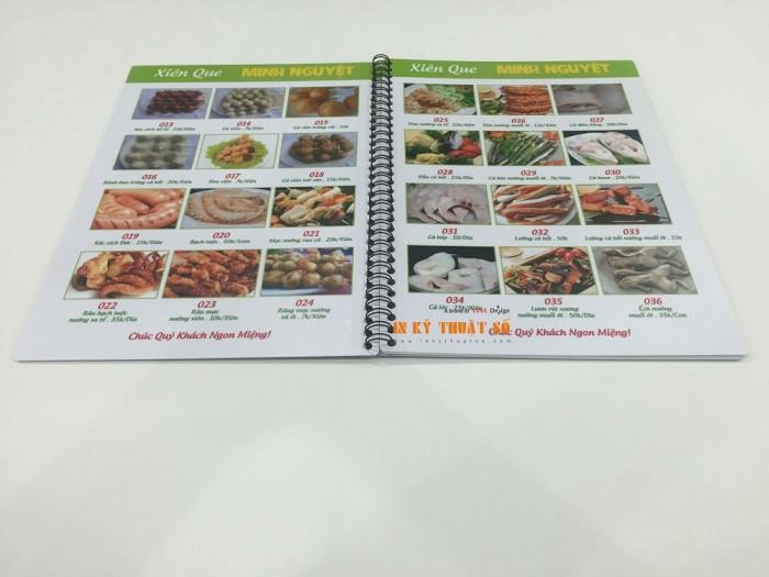 In Thực Đơn thực hiện in menu, thực đơn cho quán Xiên Que tại TPHCM từ chất li�...