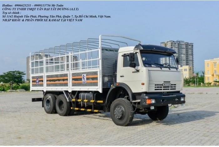 Tải thùng Kamaz 6m3, Bán xe tải thùng Kamaz 53229 mới nhập khẩu 2016 0