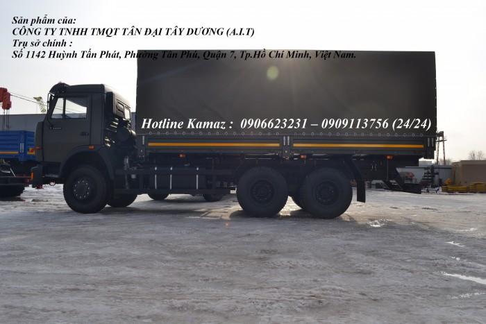 Tải thùng Kamaz 6m3, Bán xe tải thùng Kamaz 53229 mới nhập khẩu 2016 5