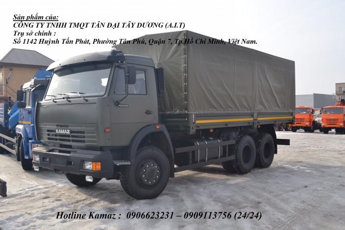 Tải thùng Kamaz 6m3, Bán xe tải thùng Kamaz 53229 mới nhập khẩu 2016 4