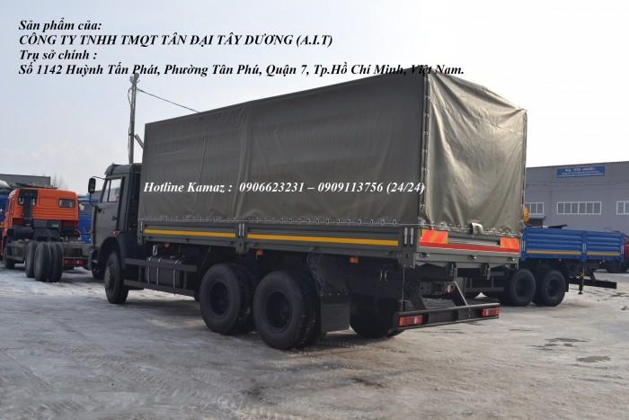 Tải thùng Kamaz 6m3, Bán xe tải thùng Kamaz 53229 mới nhập khẩu 2016 6