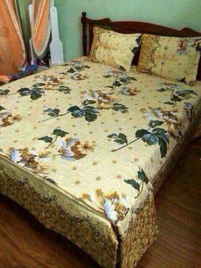 Bộ chăn drap cotton nhung