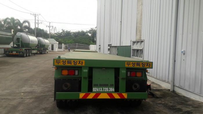Rơ mooc sàn Doosung tải trọng 32 tấn 3 trục rút giá rẻ cạnh tranh