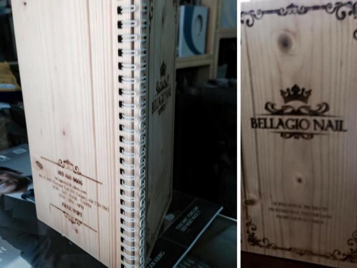 Phượng Hoàng Art nhận in menu khắc gỗ cho nhà hàng, khách sạn, resort, spa, nail tạ...
