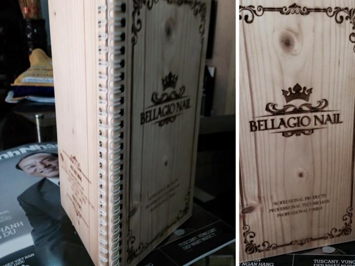 Menu gỗ khắc laser từ Phượng Hoàng Art cho cuốn menu sang trọng và đẳng cấp