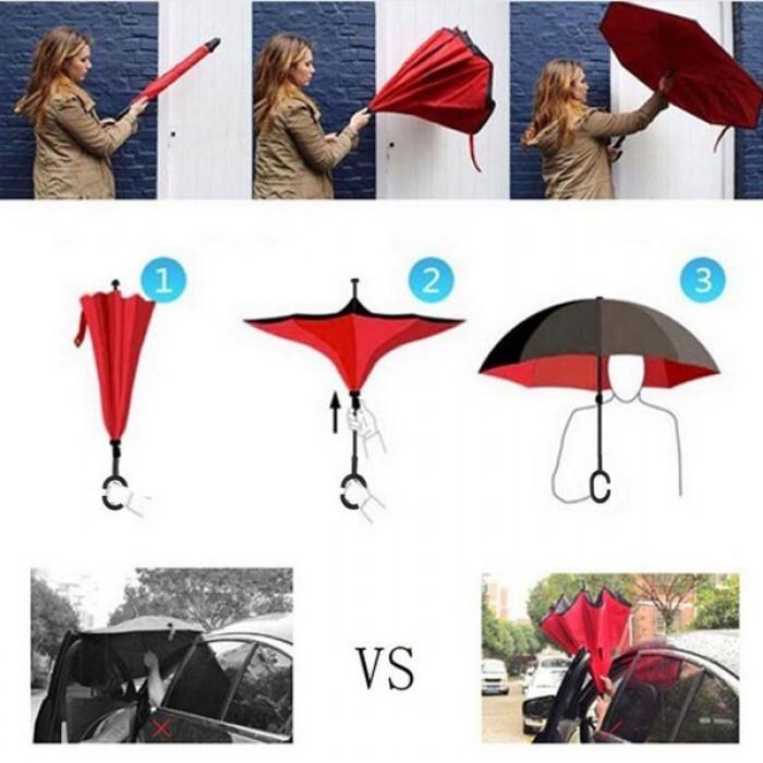 Ô có 2 lớp vải chống thấm nước, tăng cường khả năng chống nắng, che mưa.