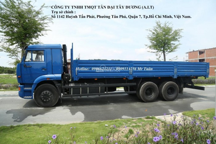 Tải Kamaz 3 giò   Kamaz 65117 (6x4) thùng 2016  Tải thùng Kamaz 7,8m