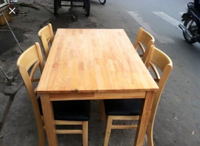 Bộ bàn ăn gỗ cao su tự nhiên3