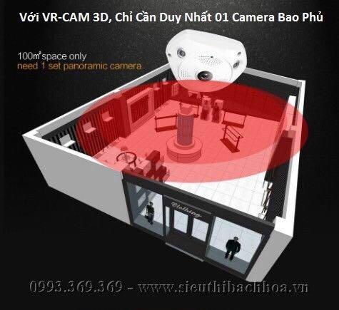 Camera IP VR CAM 3 Mắt xoay 360 độ2