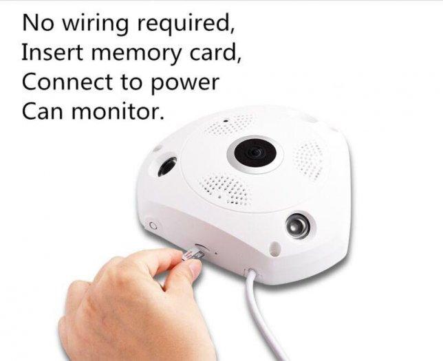 Camera IP VR CAM 3 Mắt xoay 360 độ3