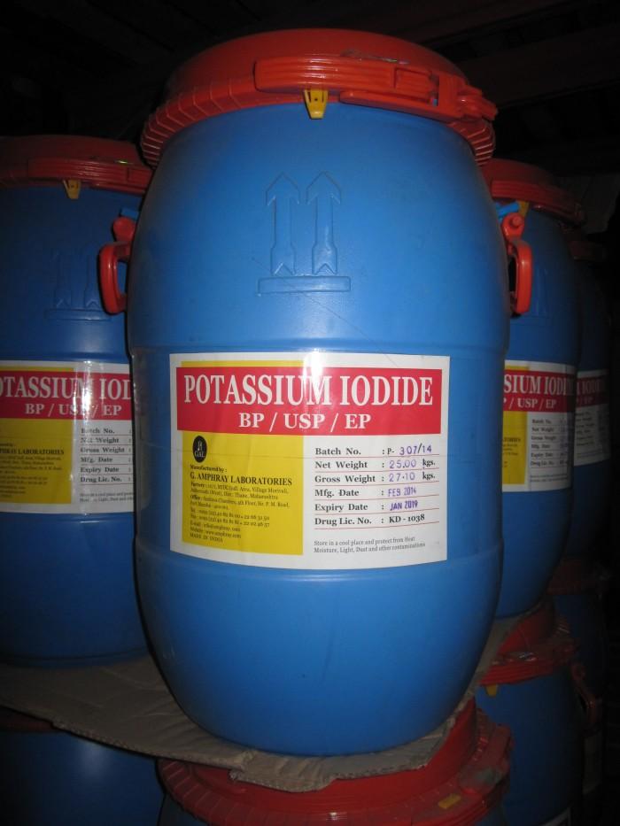 POTASSIUM IODIDE, thủy sản, làm thuốc sát trùng,bổ sung Iot vào thức ăn chăn