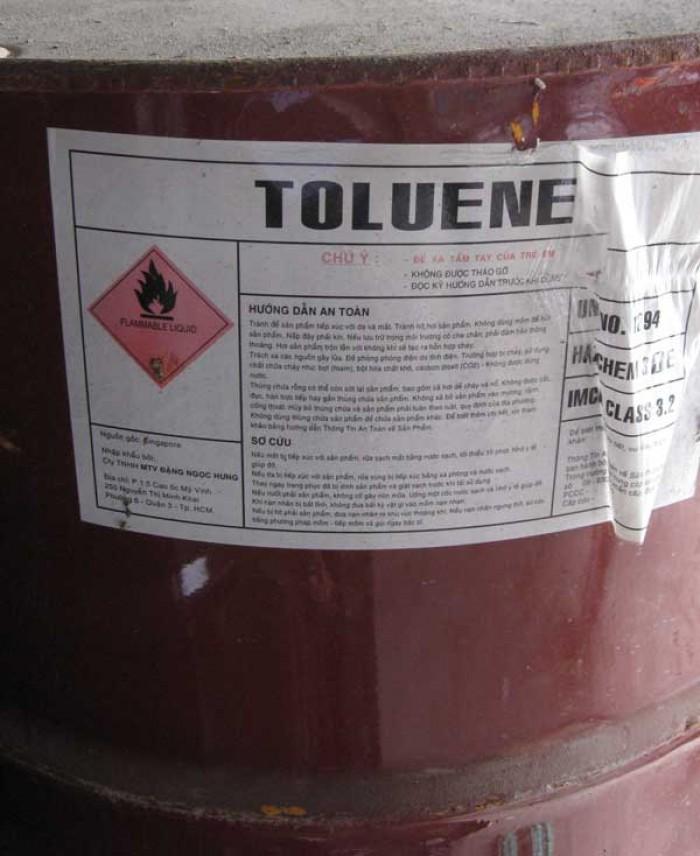 Toluene, C7H8, sản xuất keo dán,  chất cải thiện chỉ số octane của xăng dầu, sản xuất thuốc nhuộm