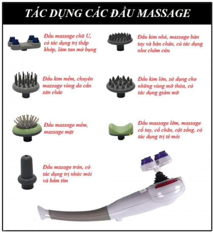 Máy Massage Cầm Tay Hồng Ngoại 7 Đầu