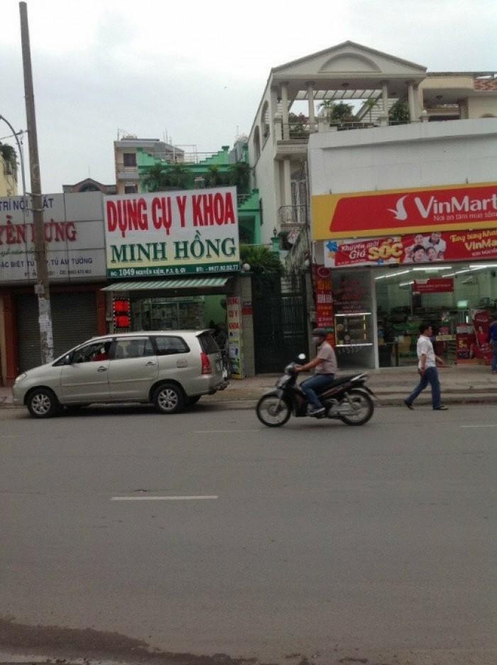 Nhà MặtTiền NguyễnKiệm, Phường3, GòVấp, 6x30m(NH), 1trệt+3lầu, Đông Nam