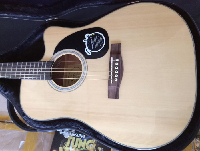 Guitar acoustic fender cd-60ce