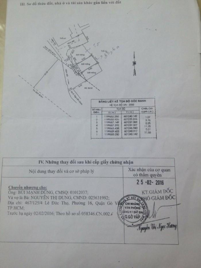 Đất Thổ Cư NguyễnOanh, Phường17, GòVấp, 4.8x12m, Hẻm 3m Thông, TâyNam