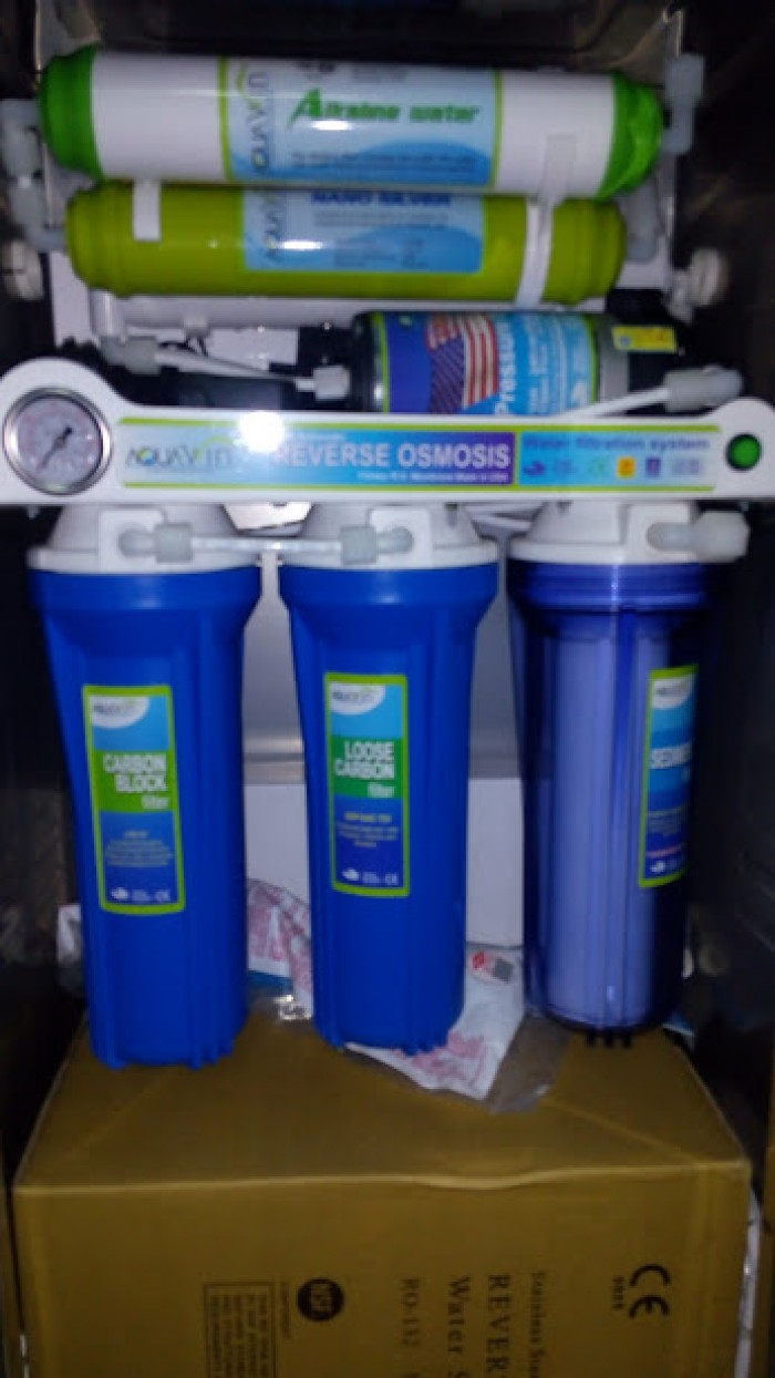 Máy lọc nước đồng hồ áp suất, công tắc điện, không tủ từ 5 đến 10 cấp lọc