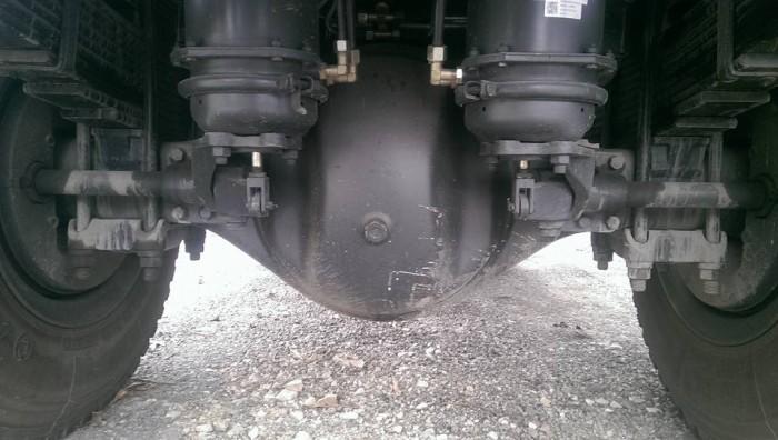 Hệ thống phanh tang trống – Phanh chính tang trống/ khí nén, Xe tải ben 8 tấn dongfeng Hoàng Huy cầu to 13 tấn
