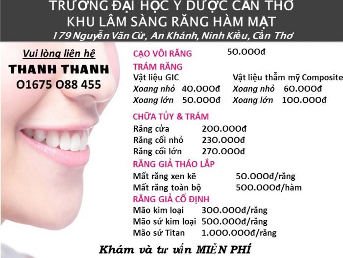 Dịch vụ chăm sóc răng miệng giá sinh viên