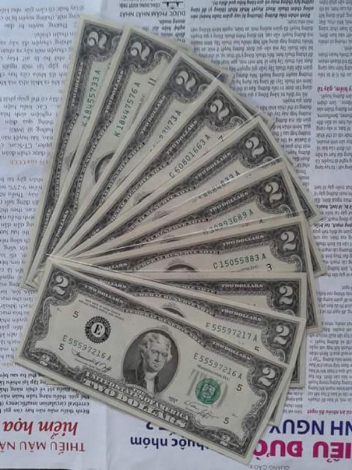 2 tờ 2 dola usd mỹ xưa năm 1976 mới đẹp1