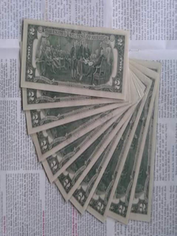2 tờ 2 dola usd mỹ xưa năm 1976 mới đẹp2