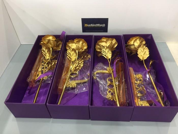 Hoa Hồng 3D mạ vàng LOVE - Món quà tặng độc đáo - MSN383087