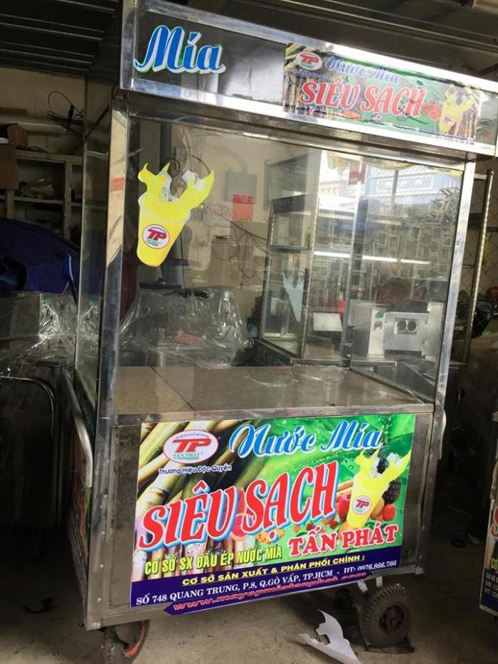 Trọn bộ máy ép mía siêu sạch có tủ kính1
