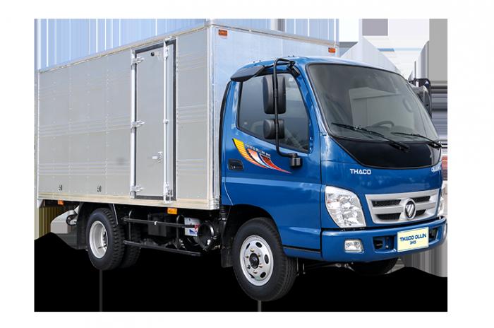 Xe tải Thaco Ollin345 tải trọng 2.4 tấn đi trong thành phố