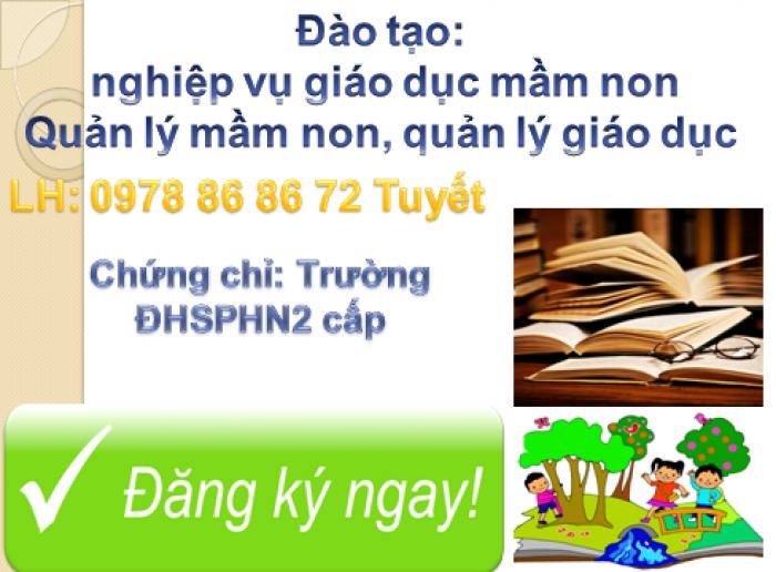 Đào tạo quản lý mầm non tại Nha Trang