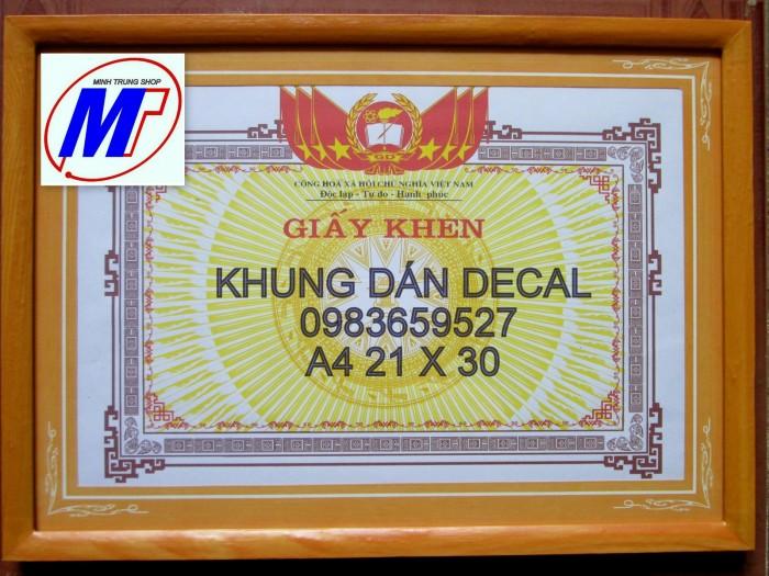 Bán Khung giấy khen gỗ dán decal  khung1