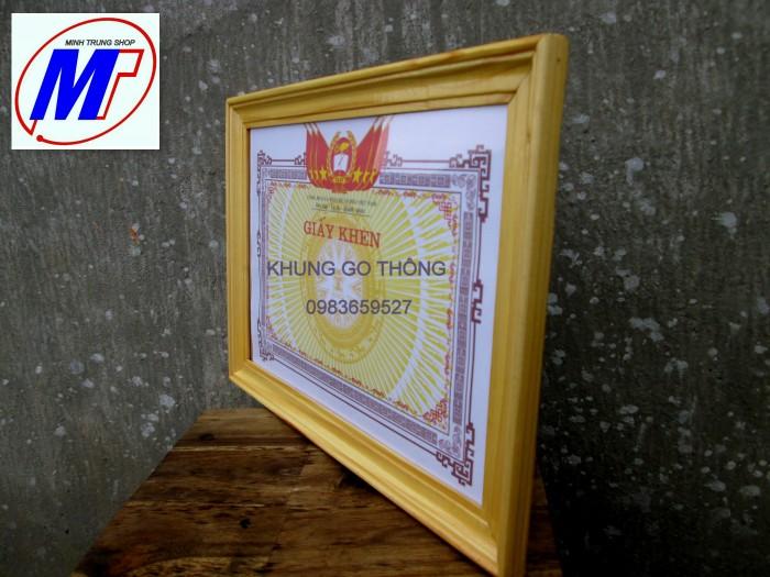 Bán khung giấy khen gỗ thông cao cấp 3 c5