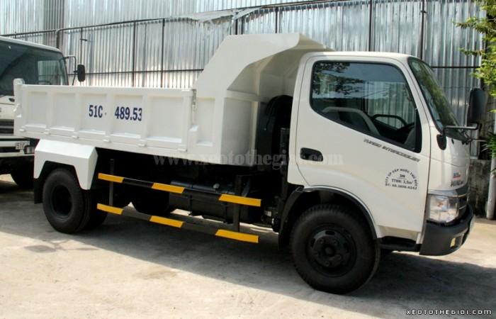 Đại lý Hino Miền Nam phân phối dòng Hino thùng lửng WU352L 110Ps, Dutro 3,5 tấn