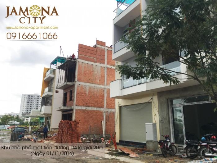 ĐẤT NỀN JAMONA CITY Q7 Bán nền 85m2 (5x17), hướng ĐN giá 3 tỷ, thanh toán chậm trong 12 tháng, xây ở ngay