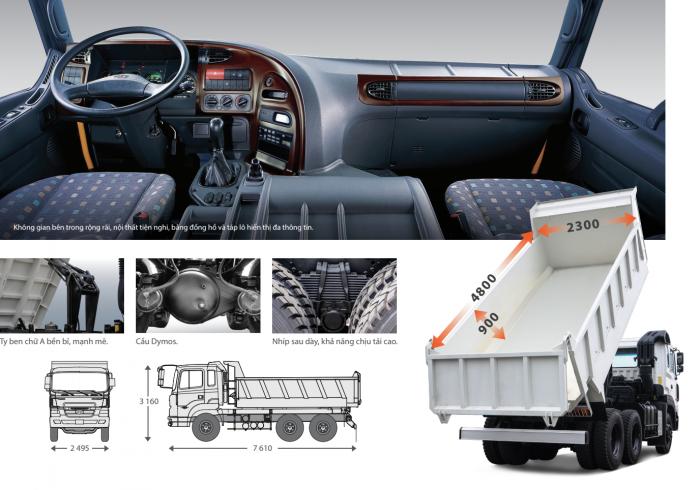 Chuyên bán dòng xe ben nặng Hyundai HD270 và Foton AD240,D300A,D300B