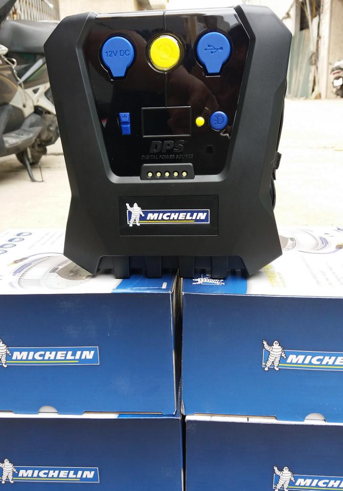 Máy bơm lốp ô tô Đa Năng MICHELIN 12266, Tự động ngắt khi áp suất trong lốp đủ ,Máy bơm lốp MICHELIN 12V4398ML 12266 - MSN388062