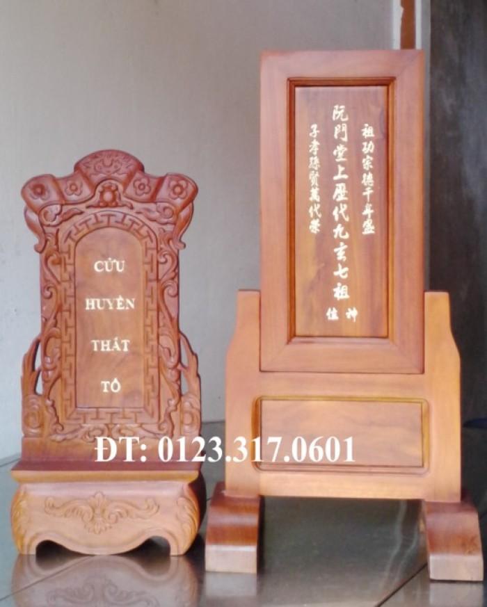Bài vị cửu huyền thất tổ chữ Hán và chữ Việt1
