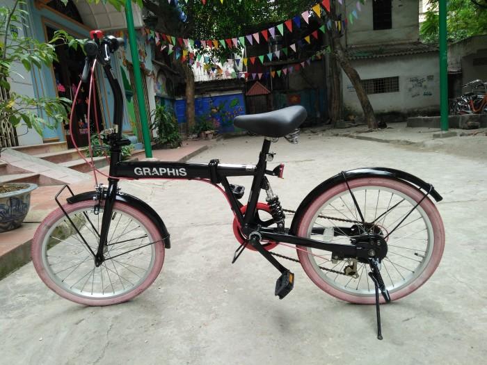 Xe đạp gấp xếp trẻ em khung sườn : hợp kim Vành xe, nan hoa: inox Màu sắc: màu đen Xuất xứ: hàng Nhật bãi