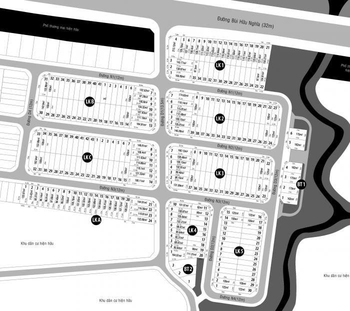 Mở bán đợt 1 dự án BIEN HOA RIVERSIDE đường Bùi Hữu Nghĩa