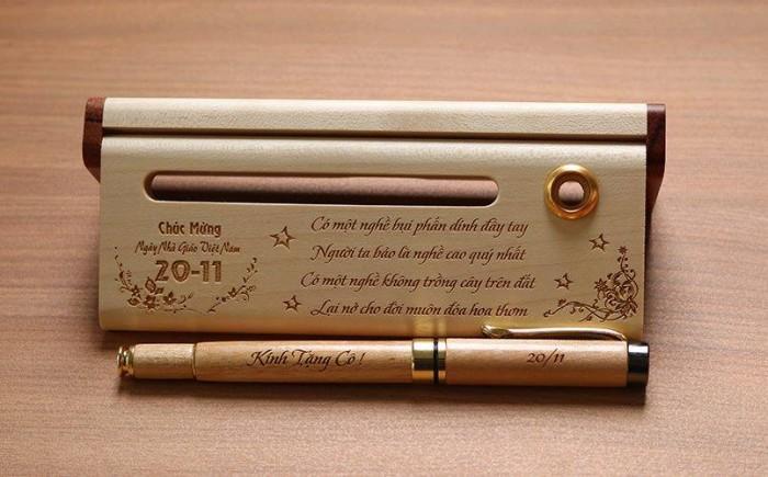bút gỗ quà tặng thầy cô giáo0