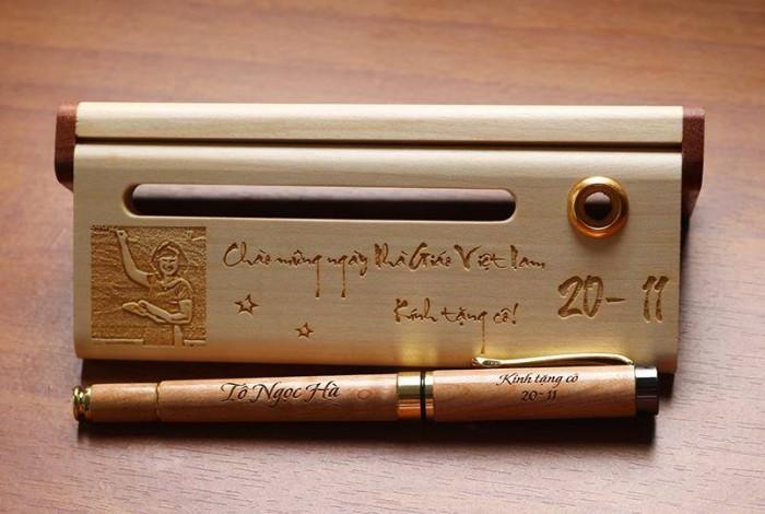 bút gỗ quà tặng thầy cô giáo2