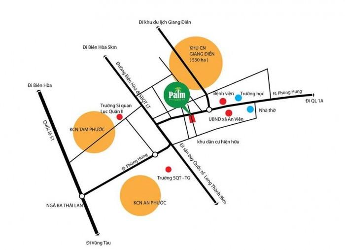 Đất cần bán liền kề đường chính Sân bay Long Thành và khu công nghiệp Giang Điền.