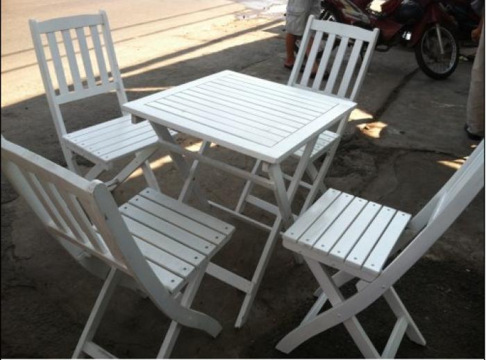 Bàn ghế gỗ xếp - GIÁ RẺ