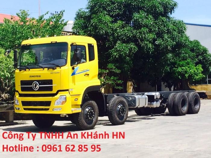 Bán xe tải thùng khung mui dongfeng 17 tấn 9
