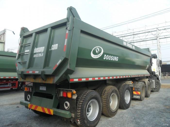 Lô Rơ Moóc ben doosung nhập khẩu mới về, tải trọng trên 30 tấn