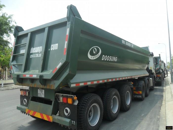 Bán Sơ mi rơ mooc Ben tải trọng 30.4 tấn, 25 khối, giao ngay