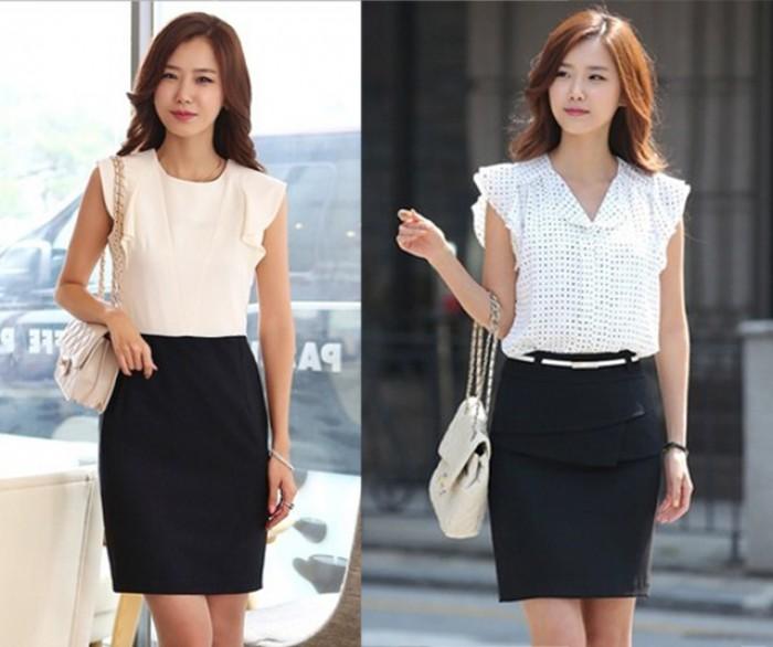 Đồng phục công sở Hàn Quốc | Đồng phục sơ mi nữ | Đồng phục chân váy - juyp