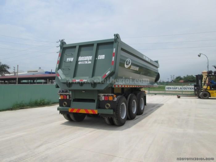 Sơmi rơ móoc ben DOOSUNG 28,8 tấn thùng 24 khối (m3), Rơ mooc ben tự đổ DOOSUNG