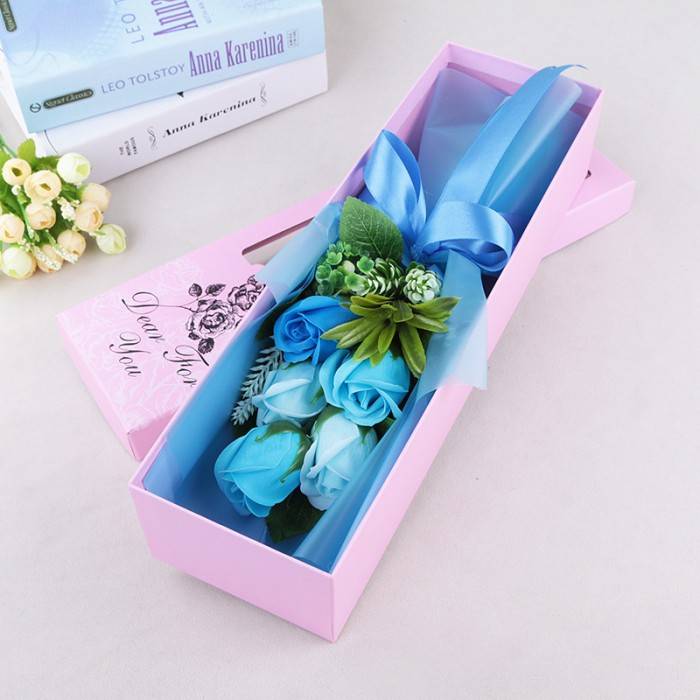 Hoa hồng sáp thơm màu xanh ngọc