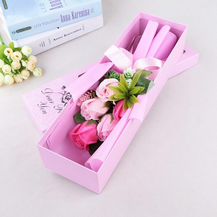 Hoa hồng sáp thơm màu hồng nhạt
